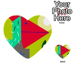 Abstract bird Multi-purpose Cards (Heart)