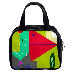 Abstract bird Classic Handbags (2 Sides)