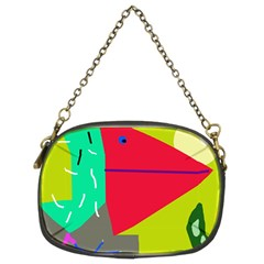 Abstract bird Chain Purses (Two Sides)
