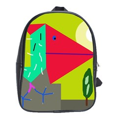 Abstract bird School Bags(Large)