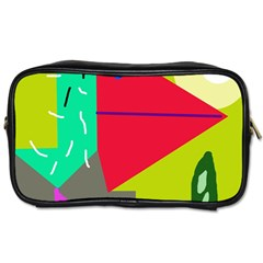 Abstract bird Toiletries Bags