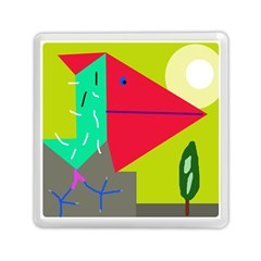 Abstract bird Memory Card Reader (Square)