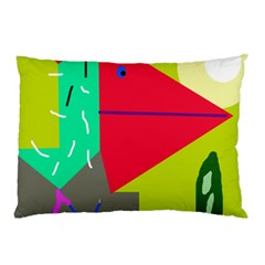 Abstract bird Pillow Case (Two Sides)