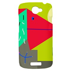 Abstract bird HTC One S Hardshell Case