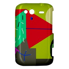 Abstract bird HTC Wildfire S A510e Hardshell Case