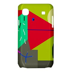 Abstract bird Samsung Galaxy SL i9003 Hardshell Case