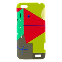 Abstract bird HTC One V Hardshell Case