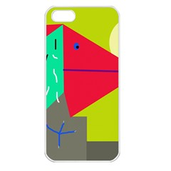 Abstract bird Apple iPhone 5 Seamless Case (White)