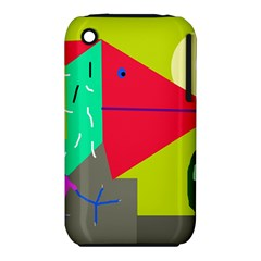 Abstract bird Apple iPhone 3G/3GS Hardshell Case (PC+Silicone)
