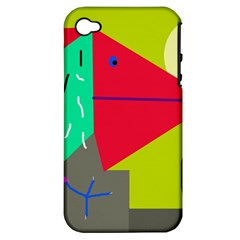 Abstract bird Apple iPhone 4/4S Hardshell Case (PC+Silicone)