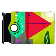 Abstract bird Apple iPad 3/4 Flip 360 Case