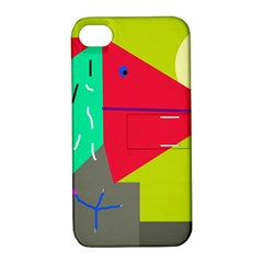 Abstract bird Apple iPhone 4/4S Hardshell Case with Stand