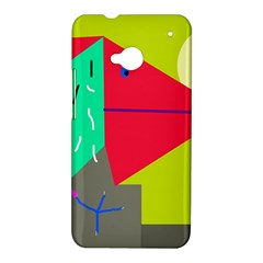Abstract bird HTC One M7 Hardshell Case