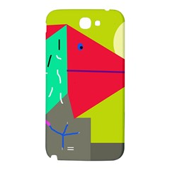 Abstract bird Samsung Note 2 N7100 Hardshell Back Case