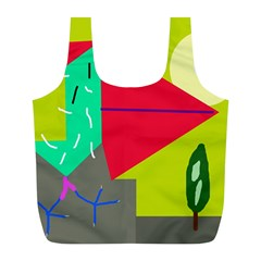 Abstract bird Full Print Recycle Bags (L)