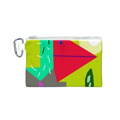 Abstract bird Canvas Cosmetic Bag (S)
