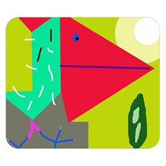 Abstract bird Double Sided Flano Blanket (Small)
