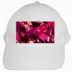 Red broken glass White Cap