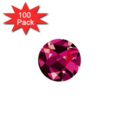 Red broken glass 1  Mini Buttons (100 pack)