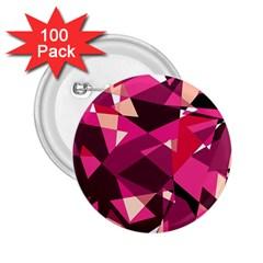 Red broken glass 2.25  Buttons (100 pack)