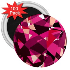 Red broken glass 3  Magnets (100 pack)