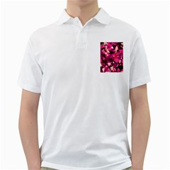Red broken glass Golf Shirts