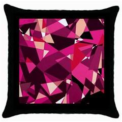 Red broken glass Throw Pillow Case (Black)