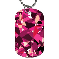 Red broken glass Dog Tag (One Side)