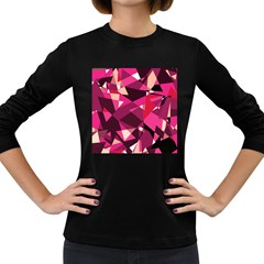 Red broken glass Women s Long Sleeve Dark T-Shirts