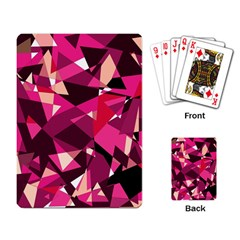 Red broken glass Playing Card