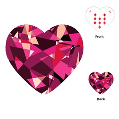 Red broken glass Playing Cards (Heart)