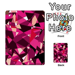 Red broken glass Multi-purpose Cards (Rectangle)
