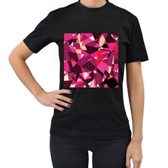 Red broken glass Women s T-Shirt (Black)