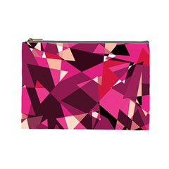 Red broken glass Cosmetic Bag (Large)