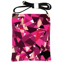 Red broken glass Shoulder Sling Bags
