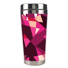 Red broken glass Stainless Steel Travel Tumblers