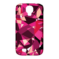 Red broken glass Samsung Galaxy S4 Classic Hardshell Case (PC+Silicone)