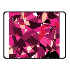 Red broken glass Double Sided Fleece Blanket (Small)