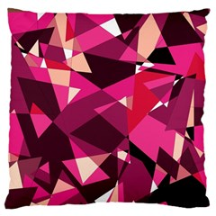 Red broken glass Large Flano Cushion Case (One Side)