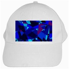 Blue broken glass White Cap