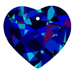 Blue broken glass Ornament (Heart)