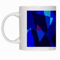 Blue broken glass White Mugs