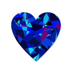 Blue broken glass Heart Magnet