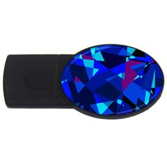 Blue broken glass USB Flash Drive Oval (2 GB)