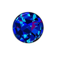 Blue broken glass Hat Clip Ball Marker