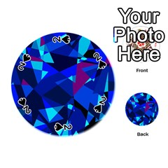 Blue broken glass Playing Cards 54 (Round)