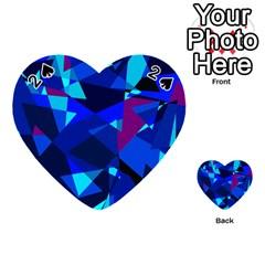 Blue broken glass Playing Cards 54 (Heart)