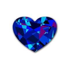 Blue broken glass Heart Coaster (4 pack)