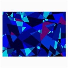 Blue broken glass Large Glasses Cloth (2-Side)