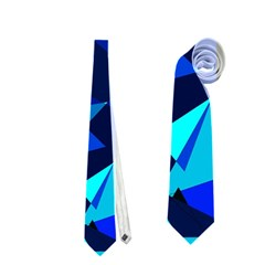 Blue broken glass Neckties (One Side)